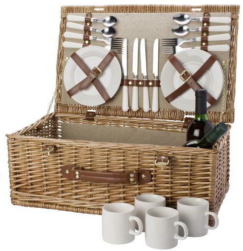 picknickmand 4 persoons in de aanbieding kopen. Black Bedroom Furniture Sets. Home Design Ideas
