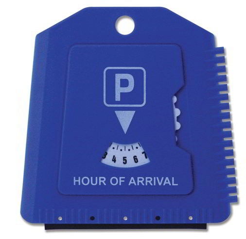 Parkeerschijf IJskrabber