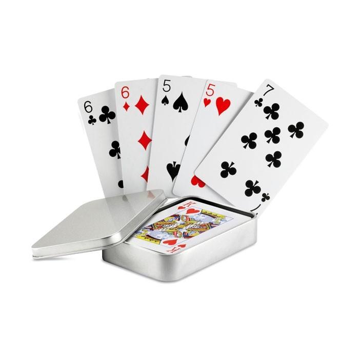 Speelkaarten in Blik