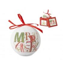 Kerstbal in bijpassend doosje