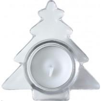 Kaarsje in Kerstboomglas