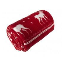 Fleecedeken Kerstmotief